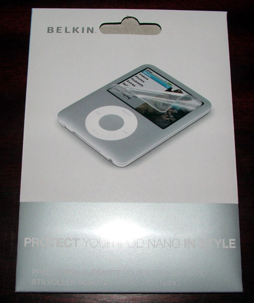 iPod Nano 3rd Gen screen protectors and cleaning kit